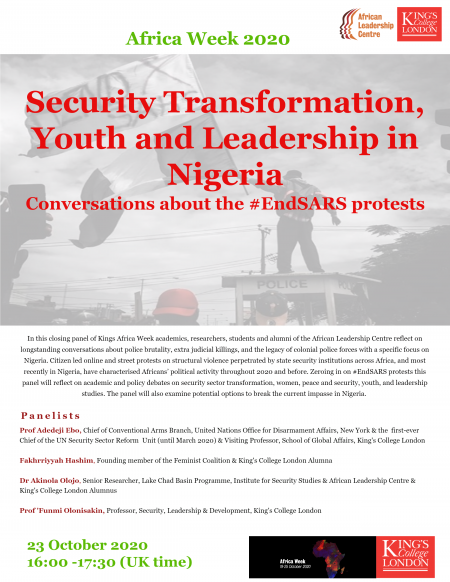 Security Transformation, Youth and Leadership in Nigeria